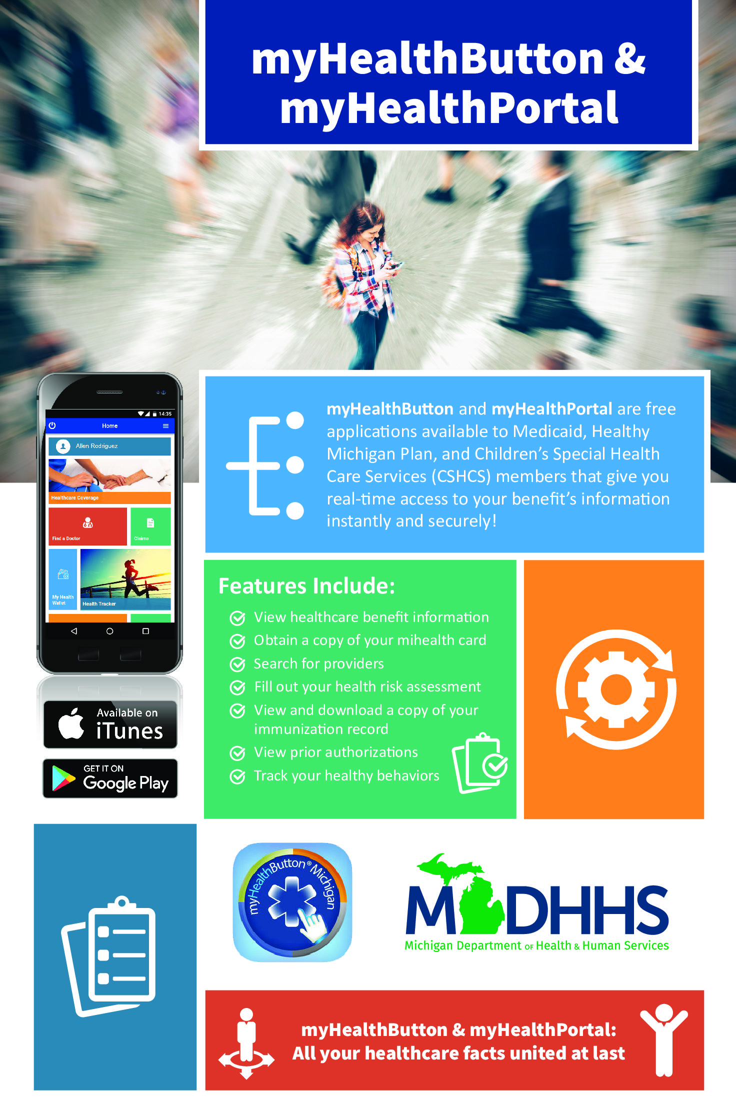 Download myHealthButton / myHealthPortal poster